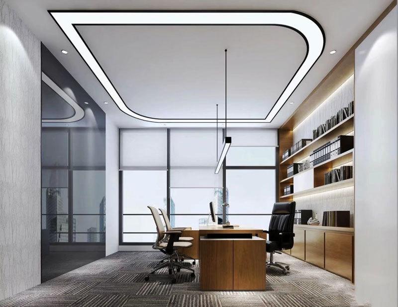 36平米现代风格老总办公室装修效果图欣赏
