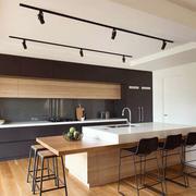 后现代风格精致开放式厨房吧台设计装修效果图赏析