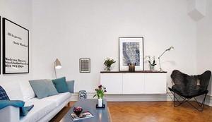 68平米北欧风格简约一居室小户型装修效果图赏析