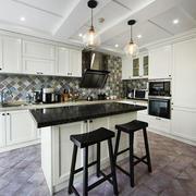 现代风格白色开放式厨房吧台装修效果图赏析
