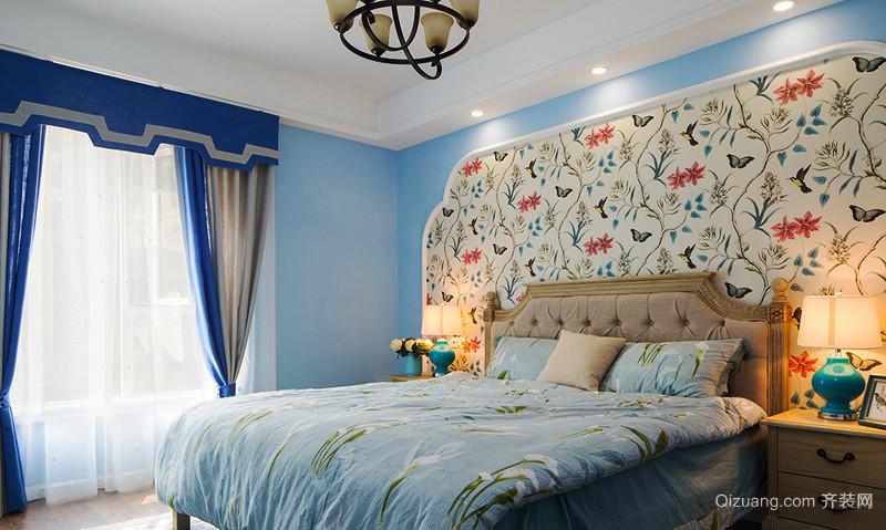 85平米地中海风格两室两厅室内装修效果图案例