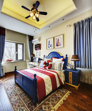地中海风格深色系卧室装修效果图赏析