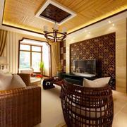 东南亚风格异域风情客厅电视背景墙装修效果图