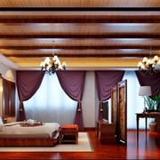 东南亚风格别墅室内精致卧室装修效果图欣赏