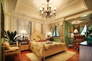 美式田园风格精美卧室吊顶设计装修效果图