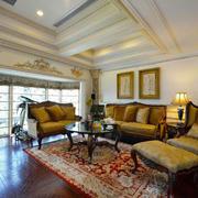 古典欧式风格别墅客厅设计装修效果图赏析