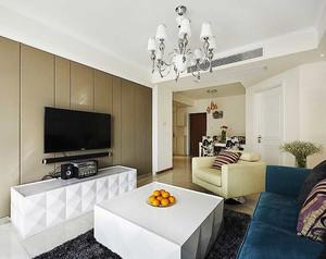126平米简欧风格浅色温馨两室两厅室内装修效果图