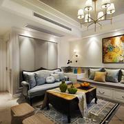 现代美式风格大户型精致客厅装修效果图赏析
