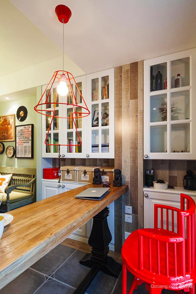 120平米美式混搭风格时尚创意室内装修效果图