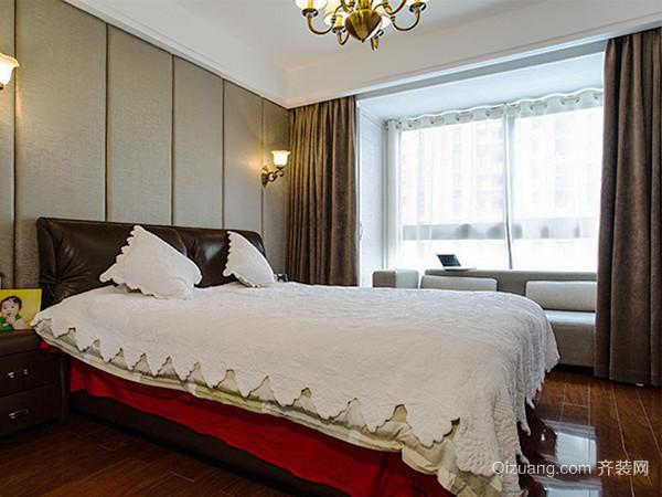 121平米现代美式风格三室两厅装修效果图案例