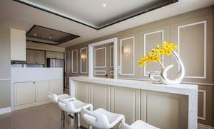 欧式风格精致浅色家装吧台设计装修效果图赏析