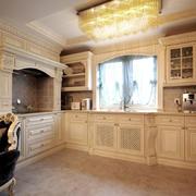 欧式风格精致大户型室内整体厨房装修效果图
