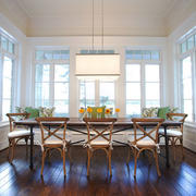 欧式田园风格别墅室内餐厅吊灯设计效果图