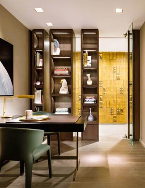 中式风格大户型精致书房设计装修效果图欣赏