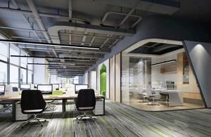 现代风格精致办公室吊顶设计装修效果图