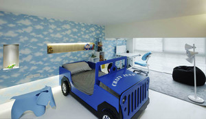 现代简约风格时尚创意儿童房设计效果图