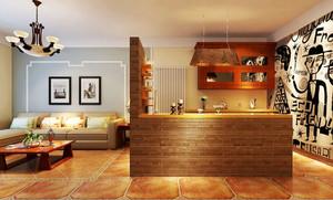 混搭风格小户型厨房隔断墙设计装修效果图
