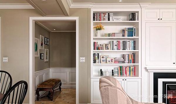 89平米简约美式风格温馨两室两厅装修效果图案例