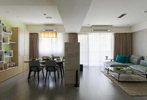 96平米简约风格清新三室两厅室内装修效果图赏析