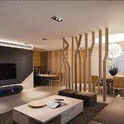 现代风格精致客厅创意隔断设计效果图