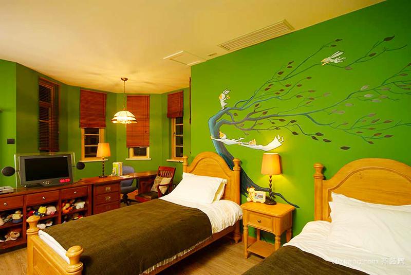 美式乡村风格精致别墅室内装修效果图案例