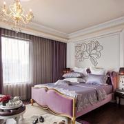 欧式风格别墅室内精致卧室装修效果图欣赏