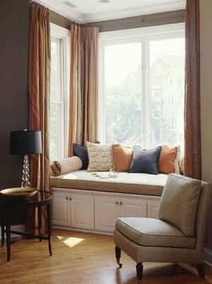 简约美式风格精致飘窗设计装修效果图