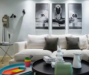 90平米现代风格文艺气息室内装修效果图赏析