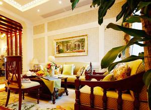 中西混搭风格大户型精致室内装修效果图案例