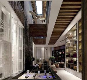 200平米中式风格雅致茶楼设计装修效果图