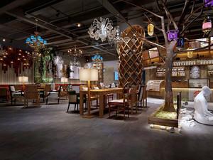 76平米混搭风格创意咖啡厅设计效果图