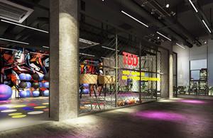 100平米现代简约风格健身房设计装修效果图