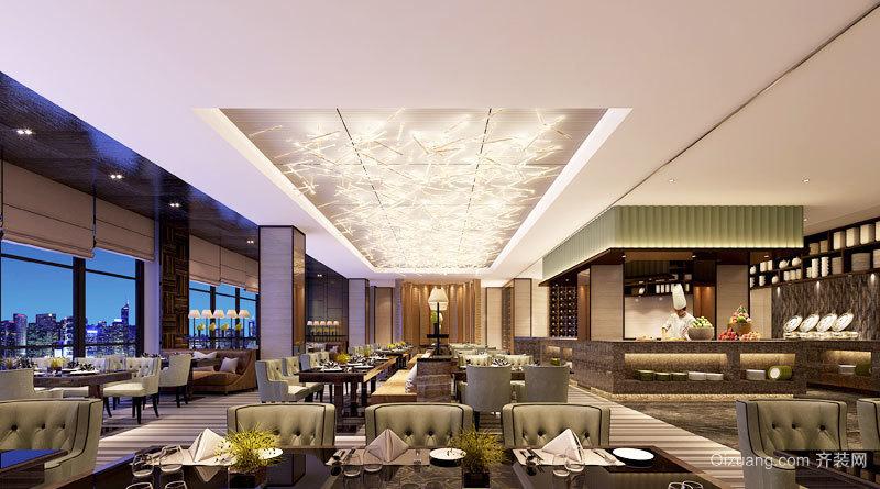 300平米欧式风格奢华酒店餐厅设计装修效果图