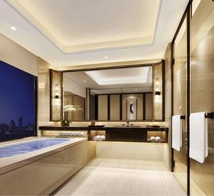 新中式风格酒店客房卫生间装修效果图