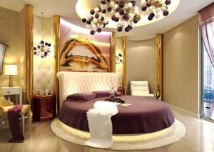欧式风格精致奢华主题酒店客房装修效果图