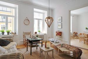 69平米北欧风格简约公寓设计装修效果图赏析