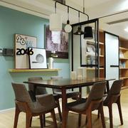 宜家风格时尚创意餐厅吊灯设计装修效果图