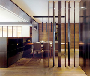 后现代风格精致餐厅隔断设计装修效果图