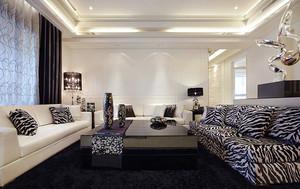 155平米后现代奢华风大户型室内装修效果图案例