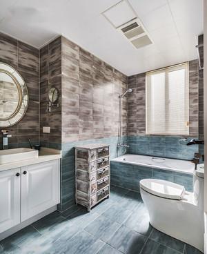 清新美式风格大户型浅色卫生间装修效果图赏析