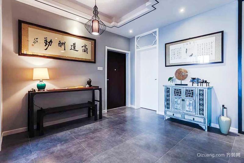 120平米简约新中式风格室内装修效果图赏析
