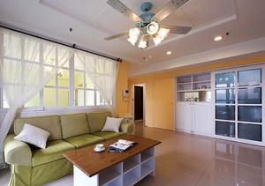 94平米清新风格三室两厅室内装修效果图赏析