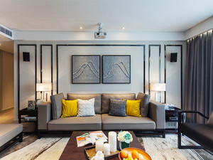 100平米现代风格精致明亮室内装修效果图赏析
