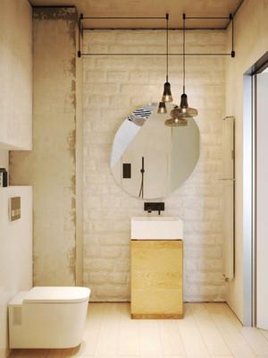 78平米现代简约风格两室两厅两卫装修效果图案例