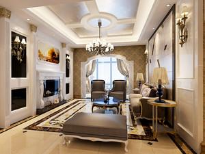 151平米新古典主义风格典雅大户型室内装修效果图