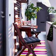 北欧风格白色阳台设计装修效果图赏析