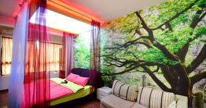 60平米现代简约风格酒店客房设计装修效果图