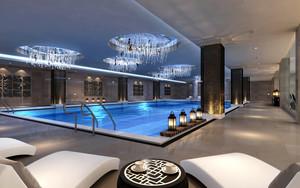 现代风格五星级酒店室内游泳池装修效果图赏析