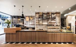 后现代风格咖啡厅前台设计装修效果图