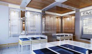 80平米现代风格珠宝店展柜设计装修效果图赏析